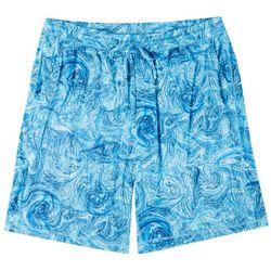 Mens Underwater Marble Pajama Shorts