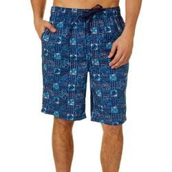 Tommy Bahama Mens Hibiscus Bermuda Sleep Shorts