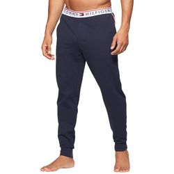 Tommy Hilfiger Mens Solid Logo Band Lounge Jogger Pants