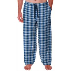 IZOD Mens Plaid Lite Touch Fleece Pajama Pants