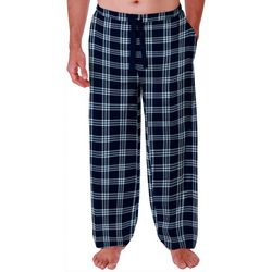 IZOD Mens Plaid Design Lite Touch Fleece Pajama Pants