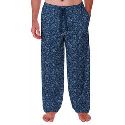 IZOD Mens Paisley Lite Touch Fleece Pajama Pants