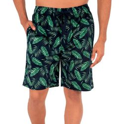 IZOD Mens Palm Leaf Sleep Shorts