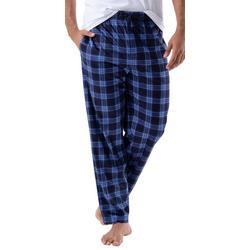 Mens Advantage Silky Fleece Plaid Pajama Pants