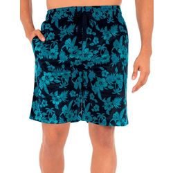 IZOD Mens Lite Touch Fleece Tropical Sleep Shorts