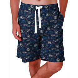 Mens Sea Shell Print Sleep Shorts