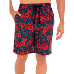 IZOD Mens Hibiscus Sleep Shorts