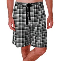 IZOD Mens Plaid Print Sleep Shorts