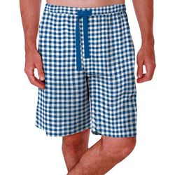 Mens Checkered Print Sleep Shorts