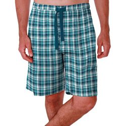 IZOD Mens Checkered Plaid Sleep Shorts