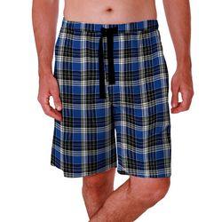 Mens Plaid Design Sleep Shorts