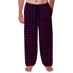 Mens Silky Plaid Print Pajama Pants