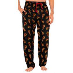 Mens Pizza Silky Pajama Pants