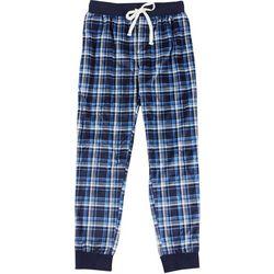 IZOD Mens Plaid Fleece Pajama Jogger Pants