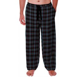 IZOD Mens Plaid Silky Fleece Pajama Pants
