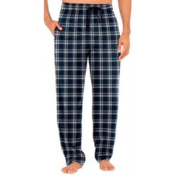 IZOD Mens Plaid Silky Fleece Pajama Pants