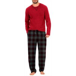 IZOD Mens Plaid Pajama Set