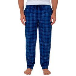 IZOD Mens Silky Plaid Fleece Pajama Pants