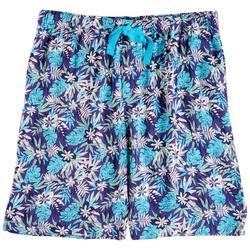 Mens Tropical Print Pajama Shorts