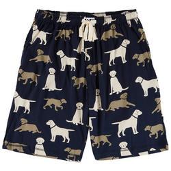Mens Labrador Print Pajama Shorts