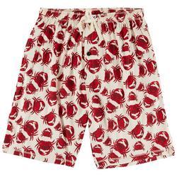 Mens Crab Print Pajama Shorts