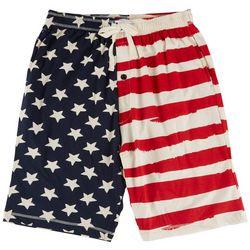 Lazy One Mens Stars & Stripes Pajama Shorts