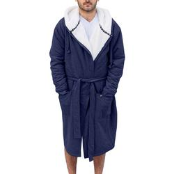 Mens Frech Terry Plush Lined Robe