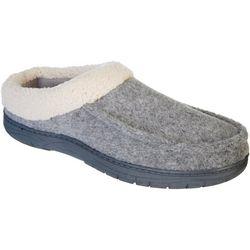 Mens Memory Foam Wool Sherpa Clog Slippers