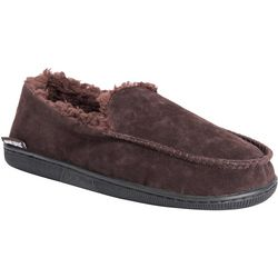 Muk Luks Mens Faux Suede Moccasin Slippers