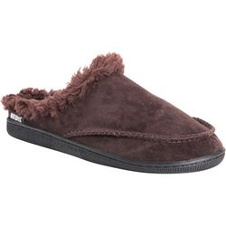 Mens Faux Suede Clog Slippers