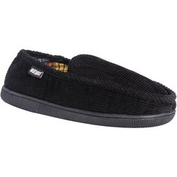 Mens Corduroy Moccasin Slippers