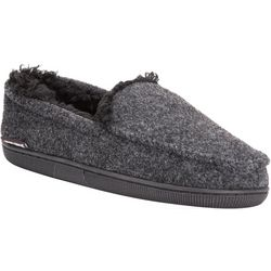 Muk Luks Mens Faux Wool Moccasin Slippers