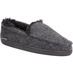 Mens Faux Wool Moccasin Slippers