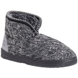 Mens Mark Cable Knit Boot Slippers