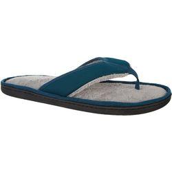 Mens Woven Plush Slippers