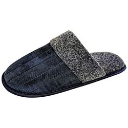 Mens Quilted Sherpa Scuff Slippers