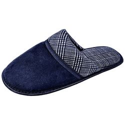 Gold Toe Mens Plaid Micro Scuff Slippers