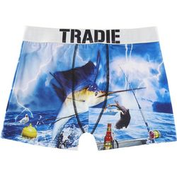 Tradie Mens Fishing Danger Boxer Briefs