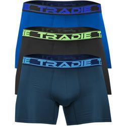 Tradie Mens 3-Pc Solid Mesh Tech Boxer Briefs
