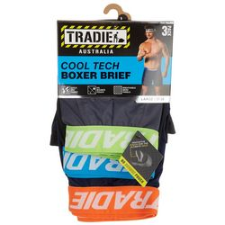 Tradie Mens 3-Pc Heathered Cool Tech Boxer Briefs