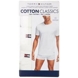 Tommy Hilfiger Mens 3-Pk. Cotton Classics Crew Neck T-Shirt