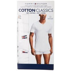Tommy Hilfiger Mens 3-Pk. Cotton Classics V-Neck T-Shirt