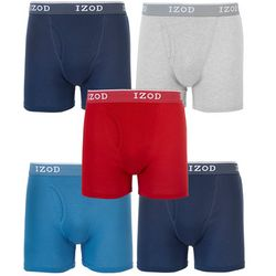Mens 5-pk. Solid Fly Pouch Boxer Briefs