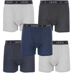 Mens 5-pk. Solid Cotton Boxer Briefs