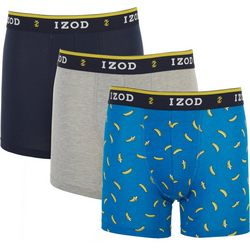 IZOD Mens 3-pk. Saltwater Banana Stretch Boxer Briefs