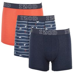 IZOD Mens 3-pk. Saltwater Whale Stretch Boxer Briefs