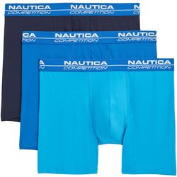 Nautica Mens 3-pk. Solid Boxer Briefs