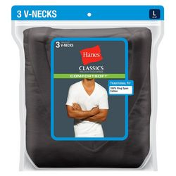 Hanes Mens 3-pk. Solid V-Neck T-Shirts