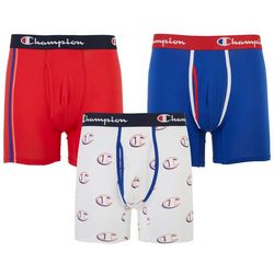 Champion Mens 3-pk. Stretch Cotton Boxer Briefs