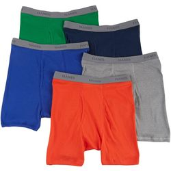 Hanes Mens 5-pk. Solid Tagless Boxer Briefs